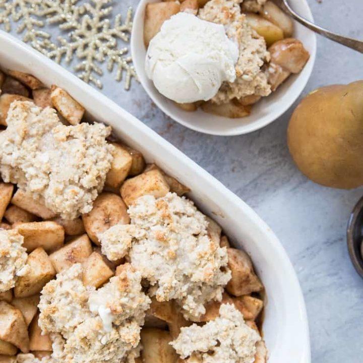 Gluten-Free Pear Cobbler