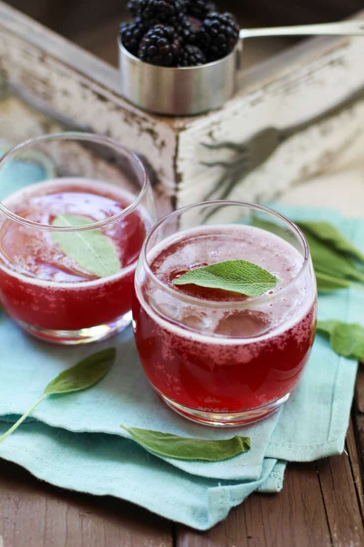Blackberry Sage Ginger Beer - a recipe for probiotic ginger beer