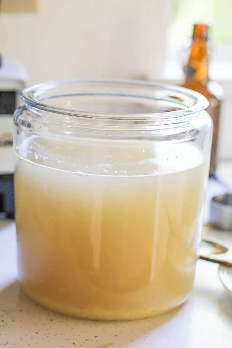 How to Make Probiotic Ginger Beer - a naturally fermented probiotic-rich beverage that you can make at home | TheRoastedRoot.net