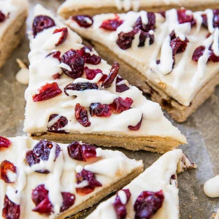 Paleo Cranberry Bliss Bars