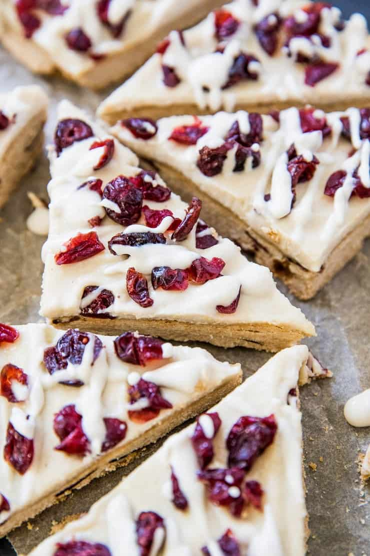 Healthy Cranberry Bliss Bars - paleo, vegan, grain-free, refined sugar-free, dairy-free and delicious