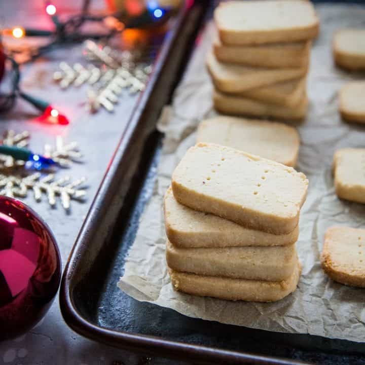 3-Ingredient Paleo Shortbread