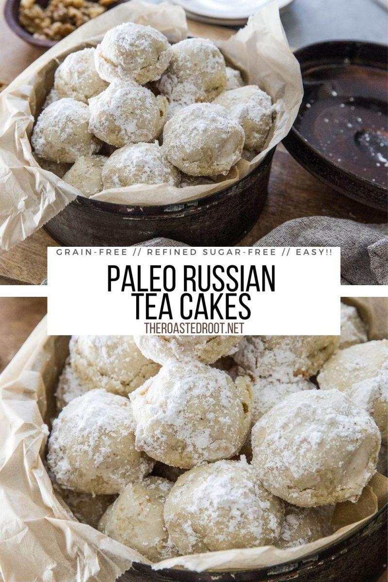 collage for Paleo Russian Tea Cakes (a.k.a. Mexican Wedding Cakes)