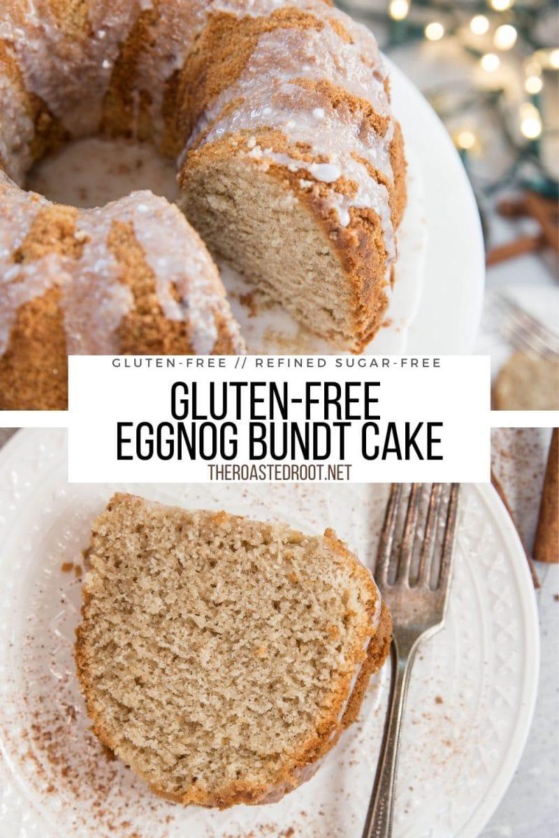 Gluten-Free Eggnog Cake with easy glaze - moist, buttery, gluten-free, refined sugar-free, healthy, delicious cake recipe