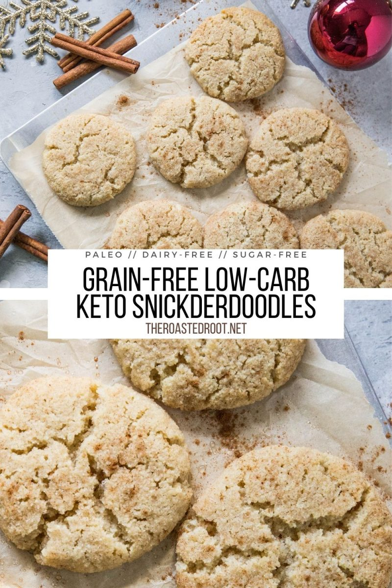 Keto Snickderdoodle Cookies made grain-free, dairy-free, sugar-free and low-carb. This healthier cookie recipe taste just like classic snickerdoodles!