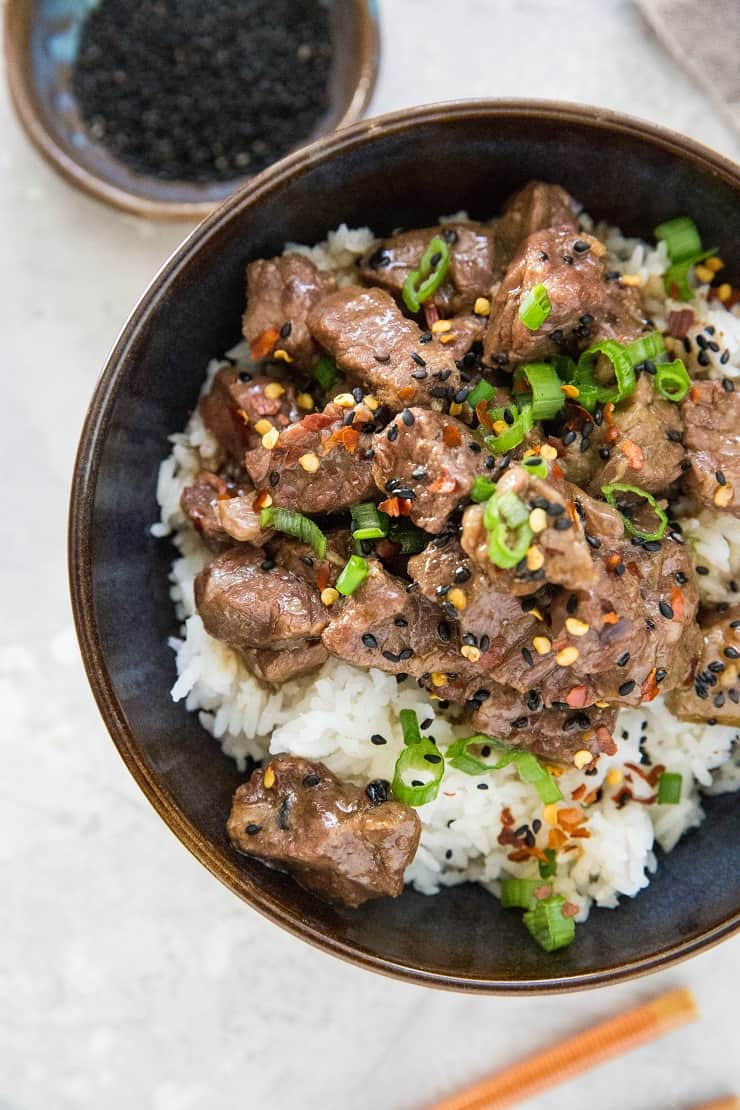 Instant Pot Beef Bulgogi - healthy Beef Bulgogi recipe made quick and easy in a pressure cooker. Soy-free and refined sugar-free