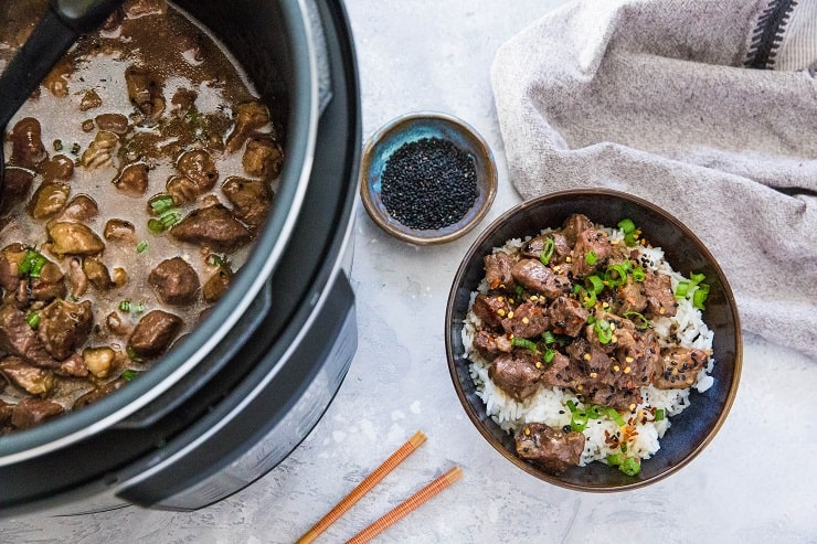 Pressure Cooker Beef Bulgogi - a korean beef recipe made in the Instant Pot. healthy, soy-free