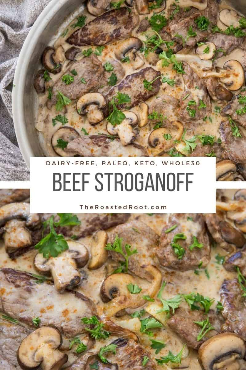 Paleo Beef Stroganoff - whole30, keto, low-carb, dairy-free, and delicious