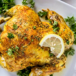 How to Make Rotisserie Chicken in the Instant Pot - a quick and easy recipe for mouth-watering tender chicken | TheRoastedRoot.net
