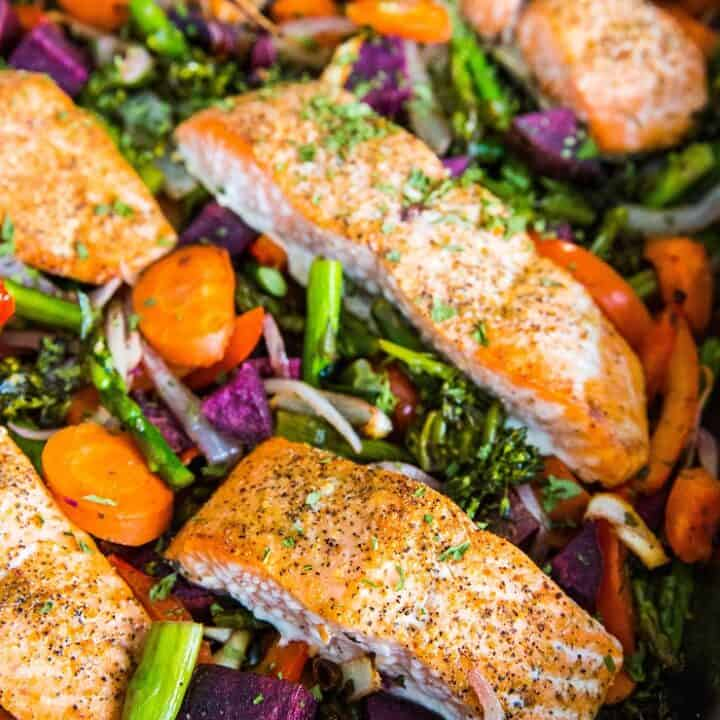 One Pan Salmon and Vegetables