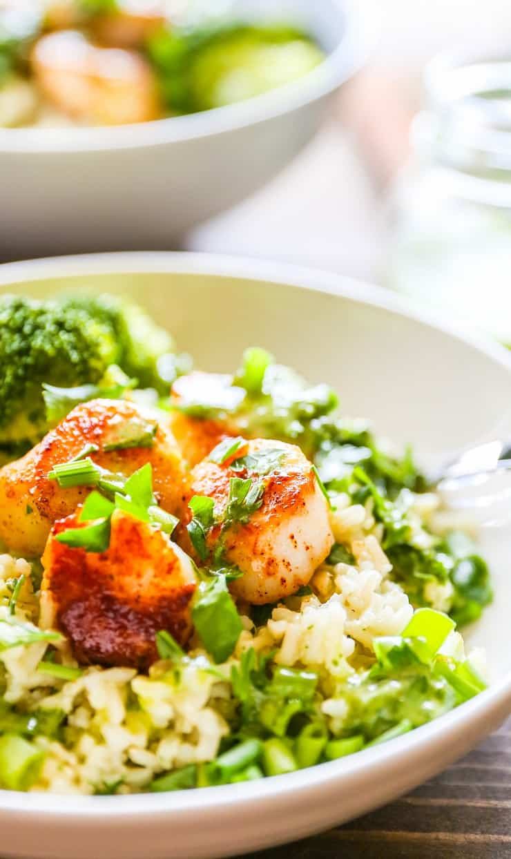 Seared Scallops with Chimichurri Sauce - everything you need to know about cooking perfect seared scallops