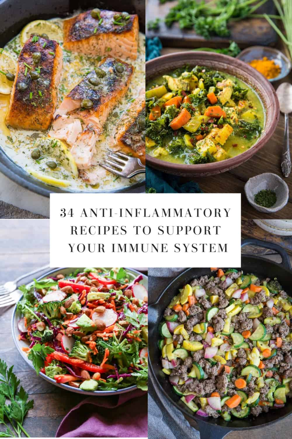 32 Anti-Inflammatory Recipes to Help Boost Your Immune System | TheRoastedRoot.net #glutenfree #paleo #keto #autoimmunity #ibs #guthealth