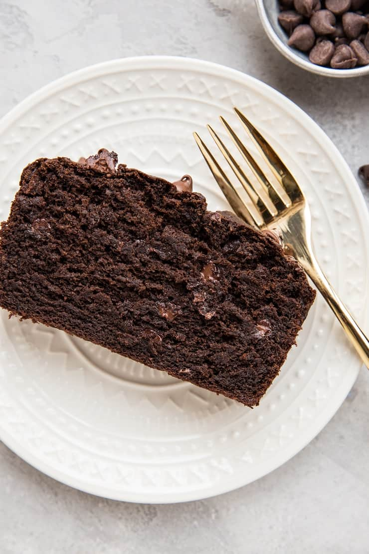 Double Chocolate Gluten-Free Banana Bread sweetened with coconut sugar