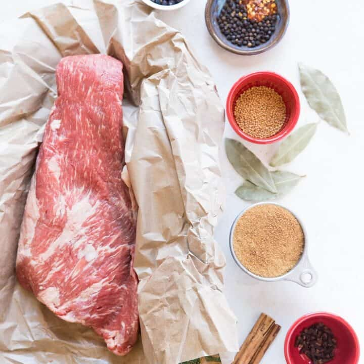 How to Brine Corned Beef at Home - a nitrate-free, refined sugar-free recipe for making your own corned beef