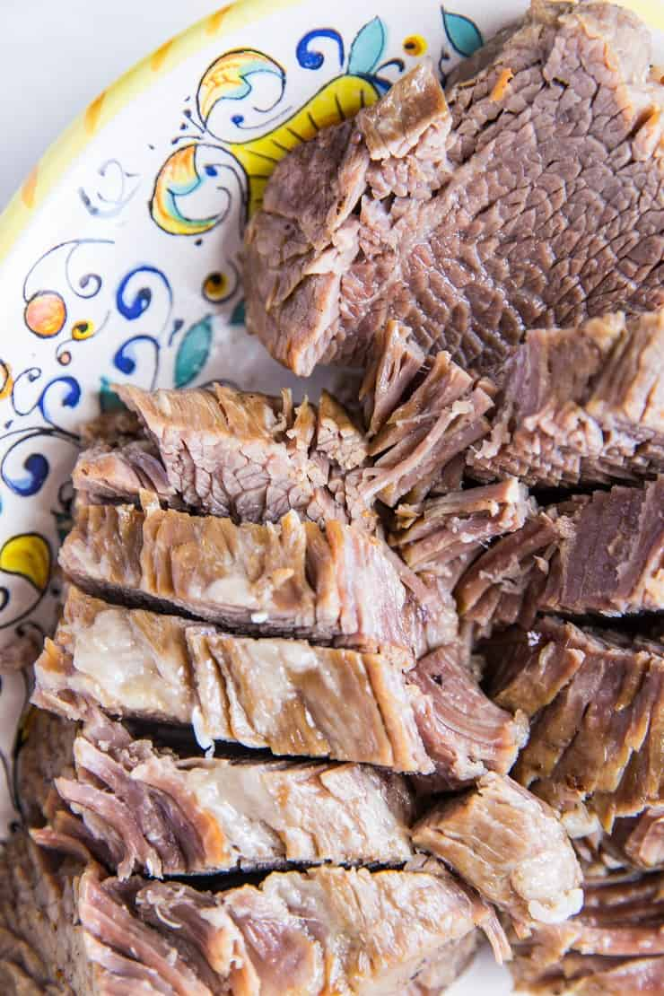 Pressure Cooker Nitrate-Free Corned Beef and Cabbage - easy corned beef recipe made paleo and Whole30