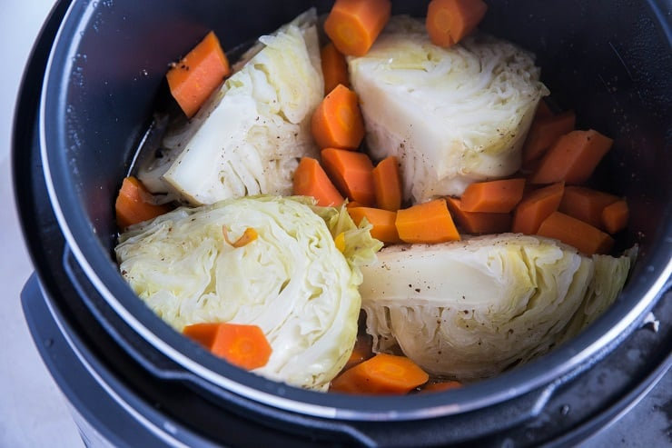 Corned Beef and Cabbage in the pressure cooker
