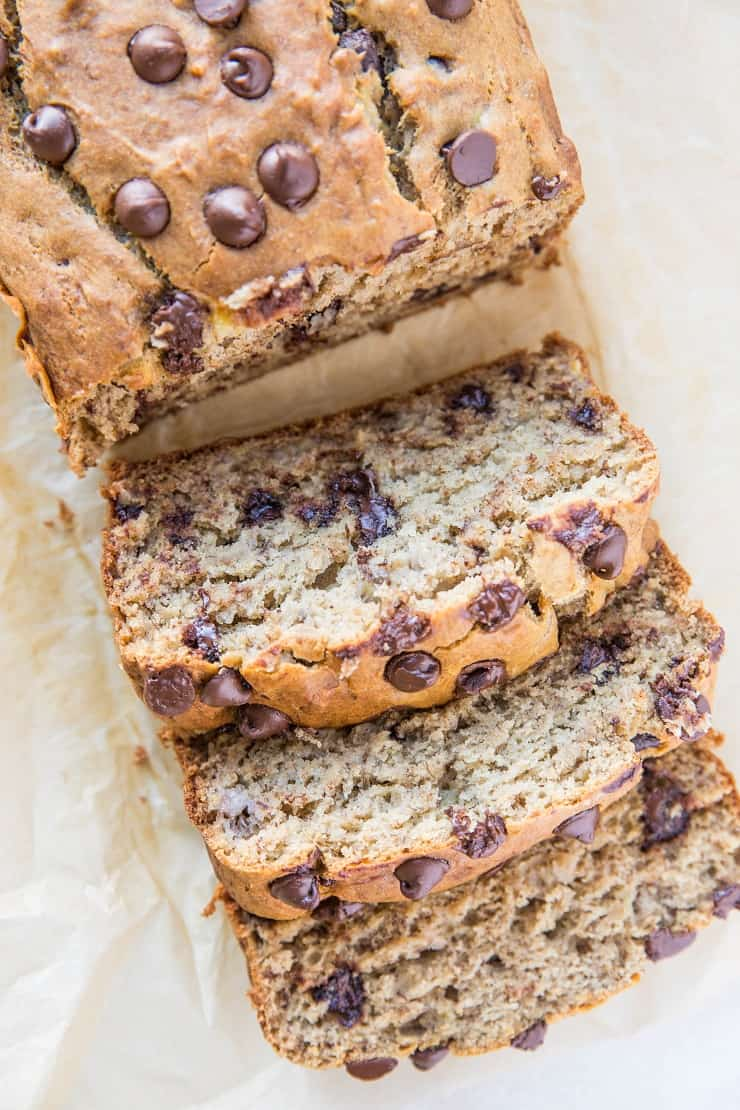 Perfect Gluten-Free Banana Bread - a healthy banana bread recipe sweetened mostly with banana and some coconut sugar