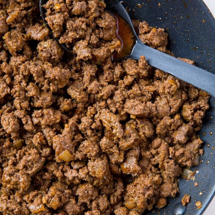 Ground Beef Taco Meat - how to make the best taco meat using pantry ingredients