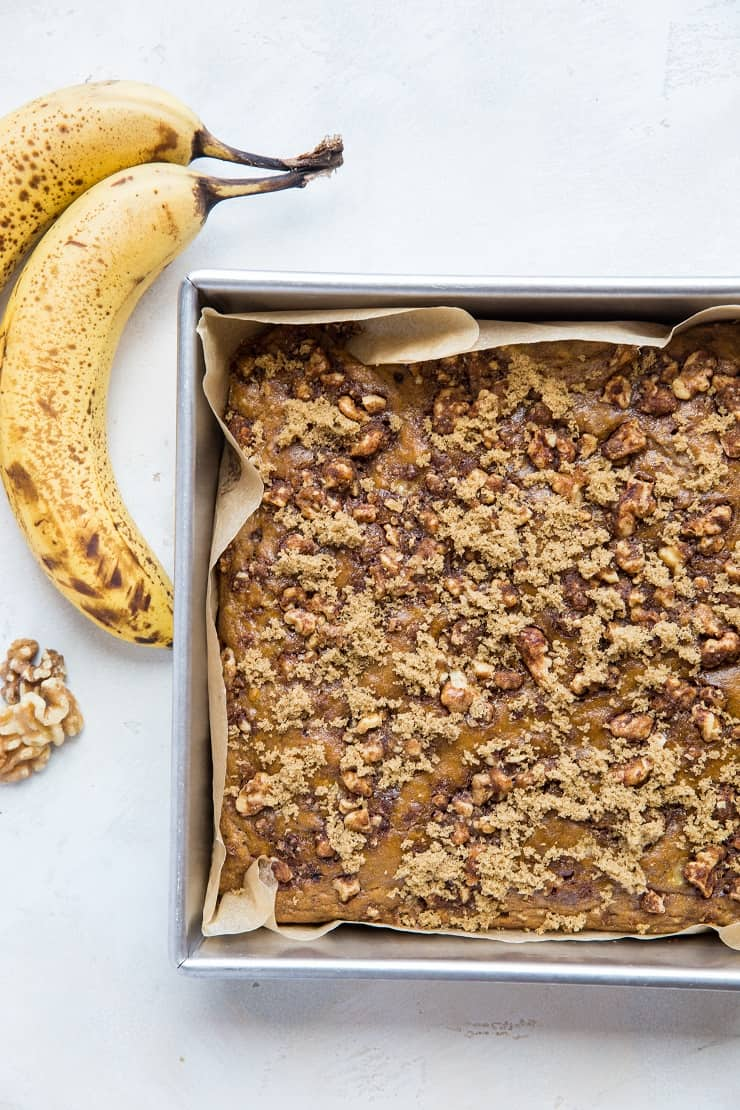 Paleo Banana Coffee Cake