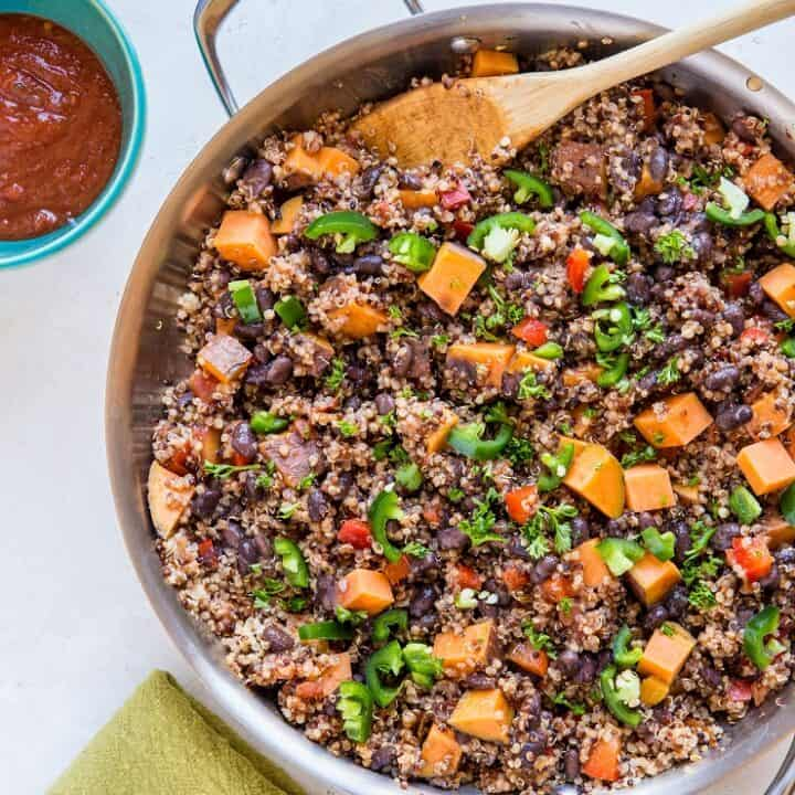 Vegan Mexican Black Bean and Sweet Potato Skillet