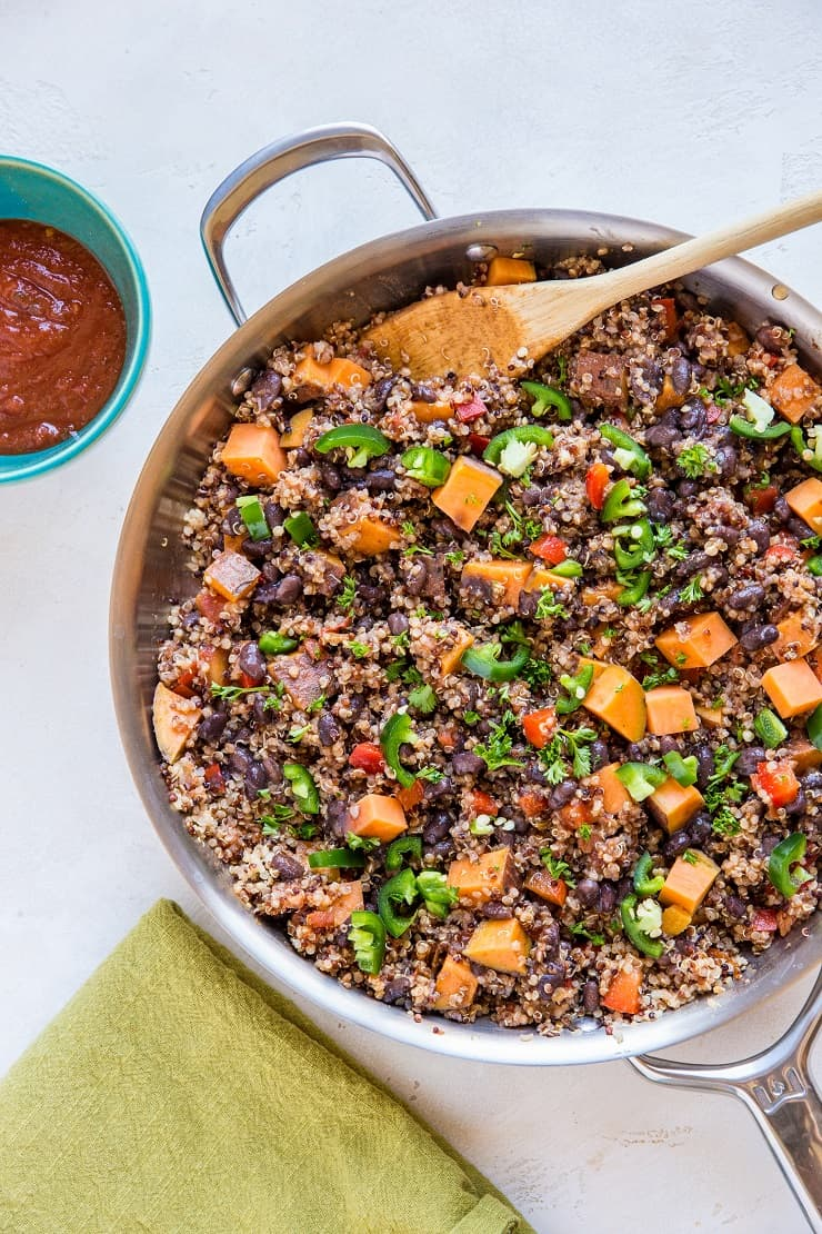 Mexican Vegan Black Bean Sweet Potato Skillet The Roasted Root