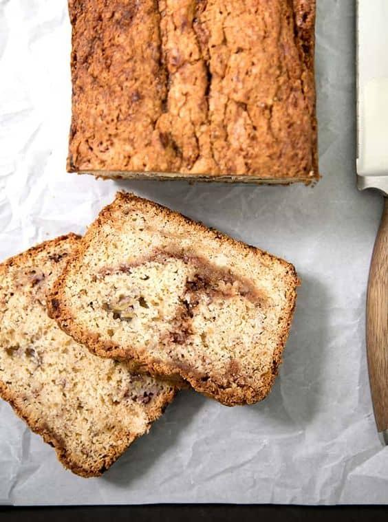 Gluten-Free Cinnamon Swirl Banana Bread