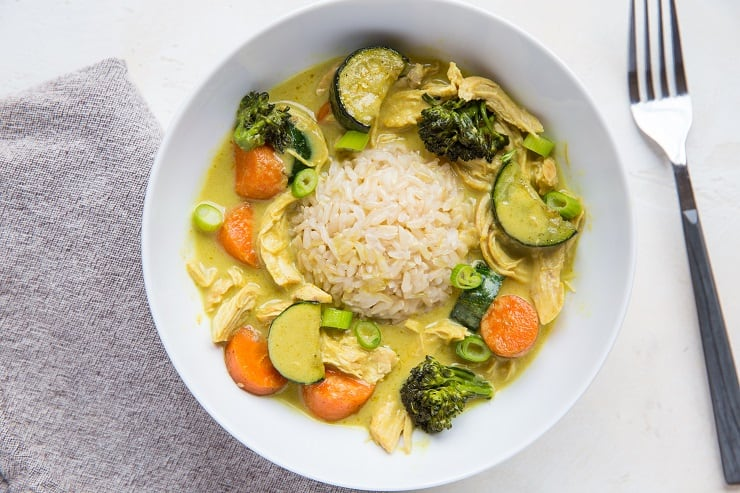 Red, Green, or Yellow Thai Curry for One Person - a quick, easy small batch curry recipe that takes only 15 minutes to make
