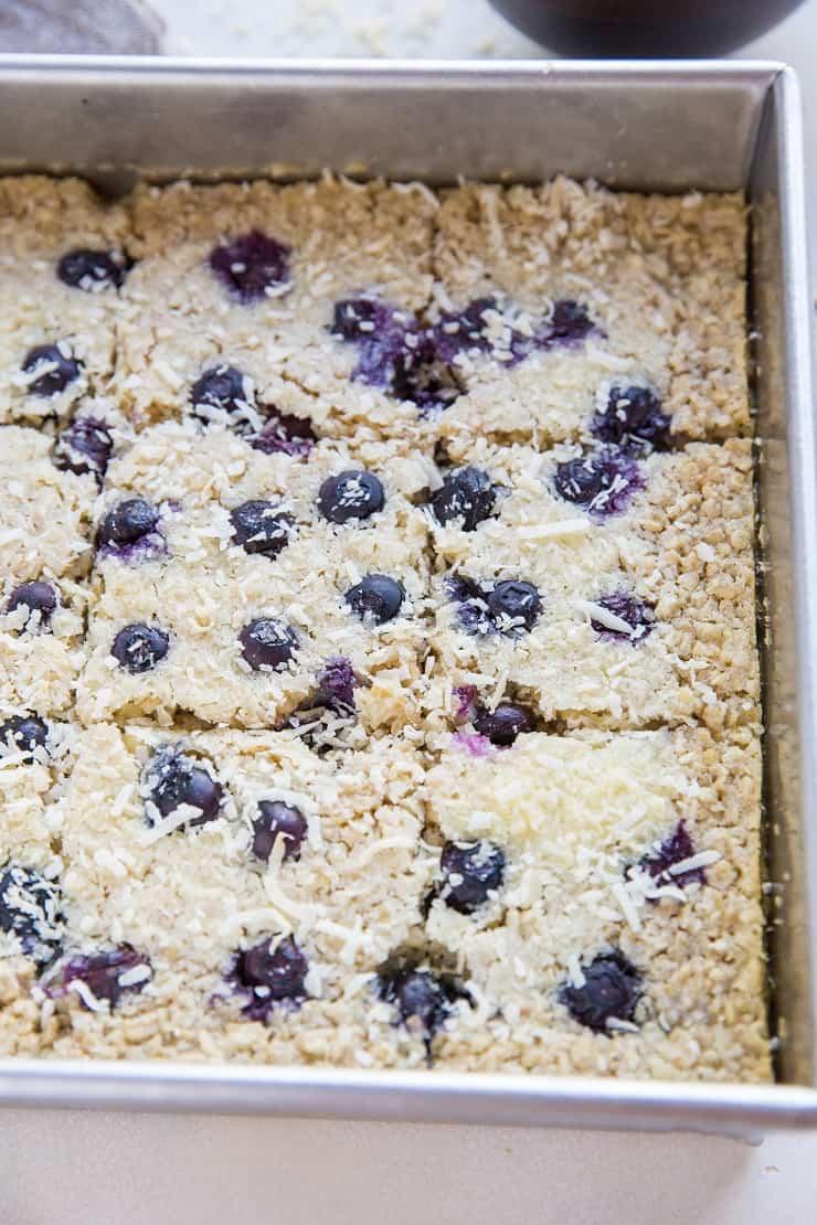 Easy Baked Oatmeal recipe - dairy-free, refined sugar-free, gluten-free