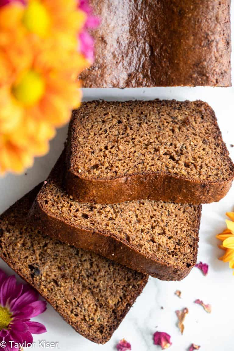 High Protein Banana Bread with almond flour and coconut sugar