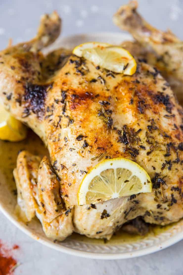 Garlic Herb Rotisserie Chicken