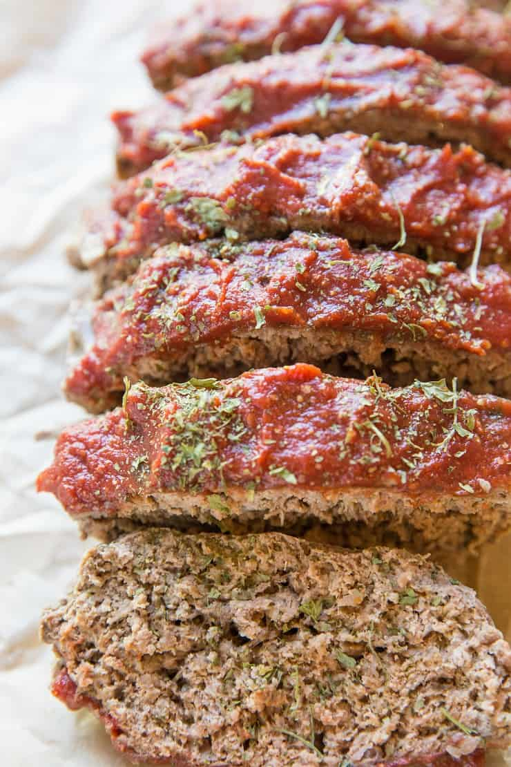 Paleo Meatloaf Recipe - grain-free, dairy-free, easy meatloaf recipe