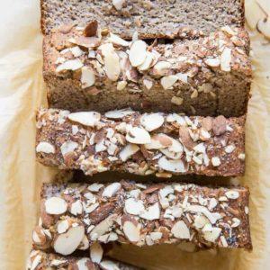 Grain-Free Paleo Poppy Seed Almond Banana Bread - oil-free, dairy-free, no added sugar