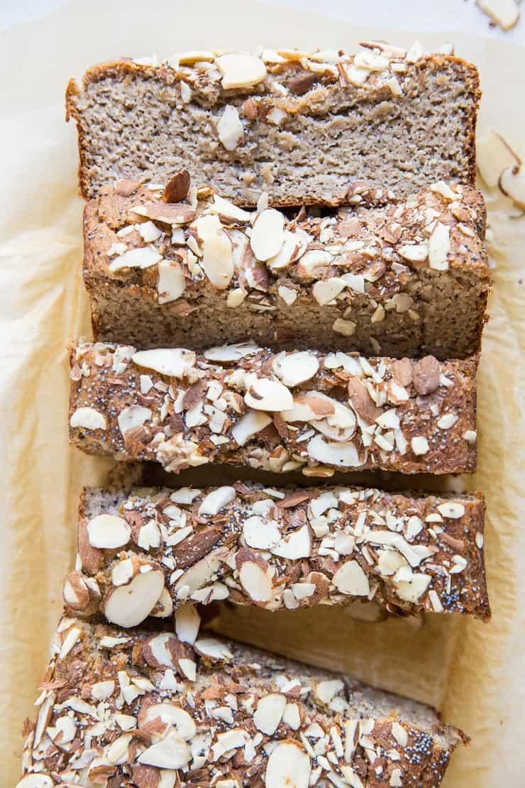 Grain-Free Paleo Poppy Seed Banana Bread - oil-free, dairy-free, no added sugar
