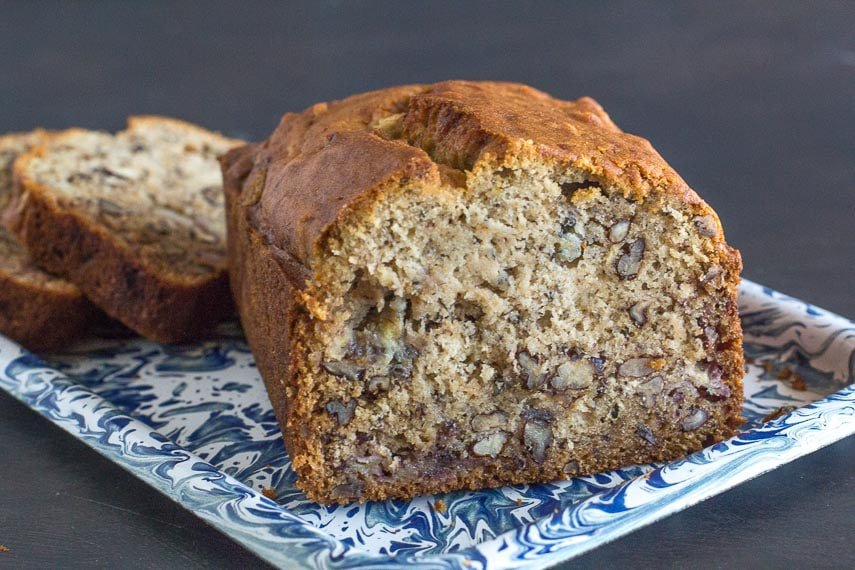 Reduced Sugar Banana Loaf - FODMAP friendly