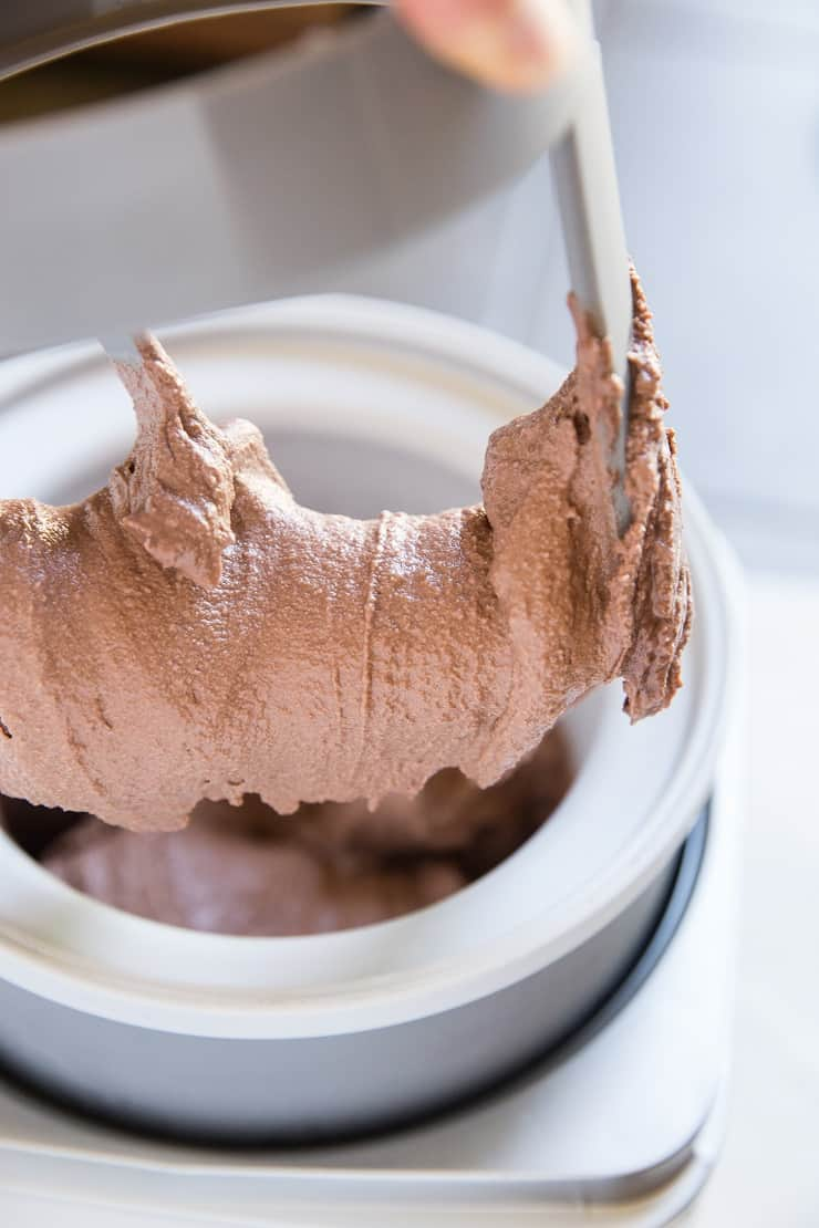 Chocolate Ice Cream made with just 4 ingredients in an ice cream maker