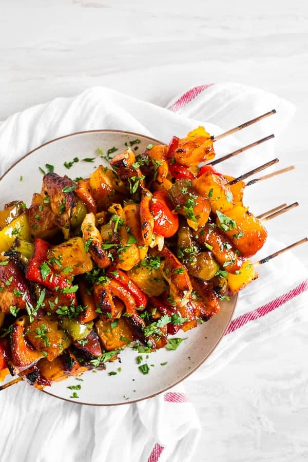 BBQ Hawaiian Chicken Kebabs