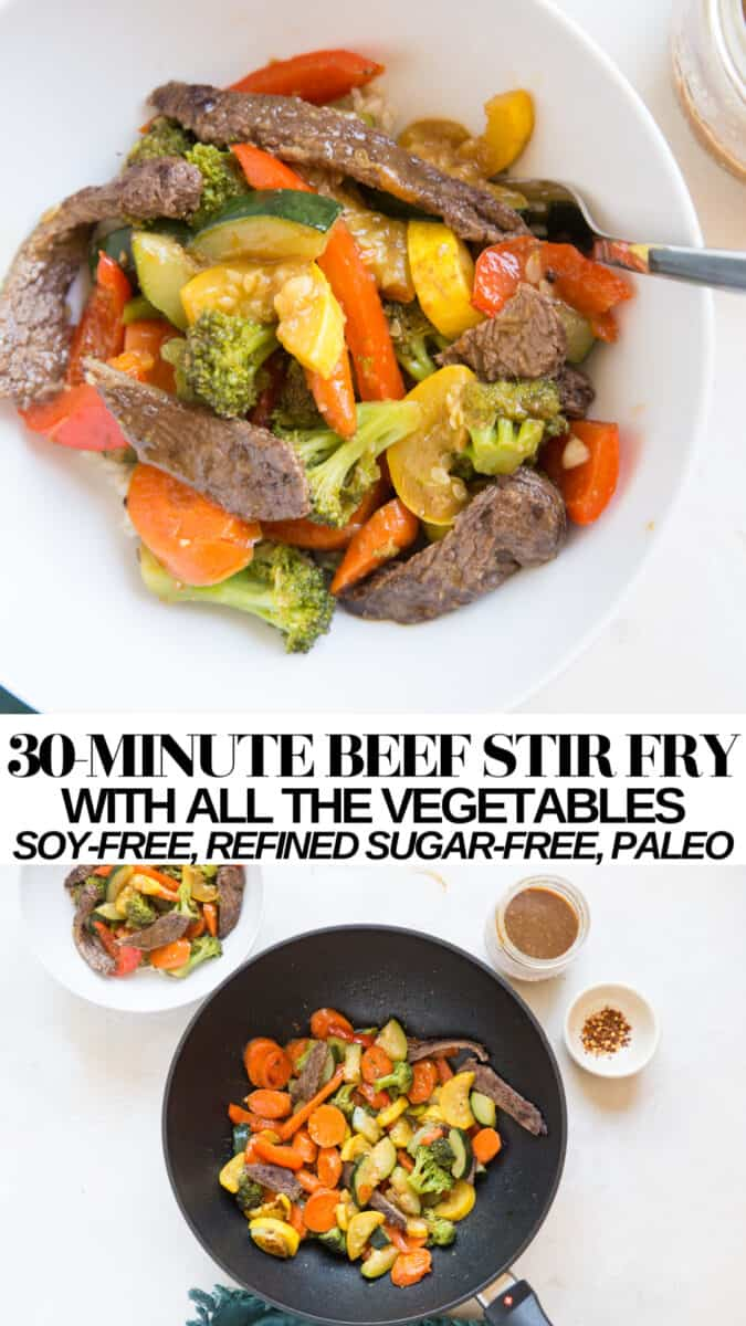 30-Minute Beef Stir Fry made refined sugar-free, soy-free, and paleo