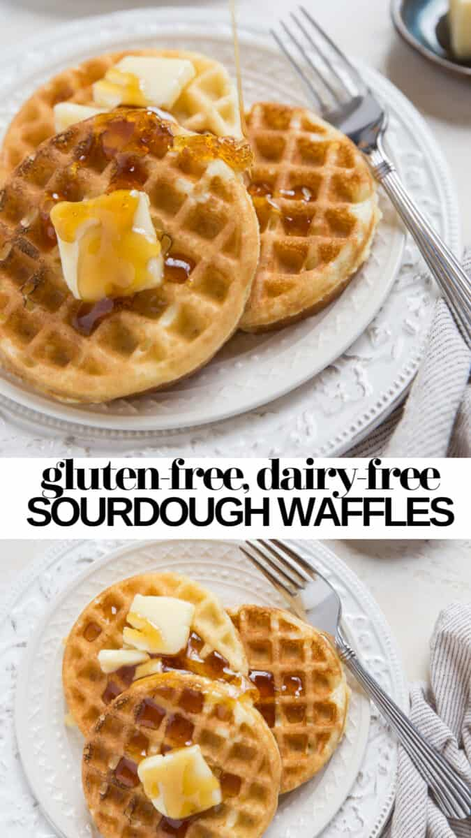 Sourdough Waffles - gluten-free, dairy-free, lower carb waffles!