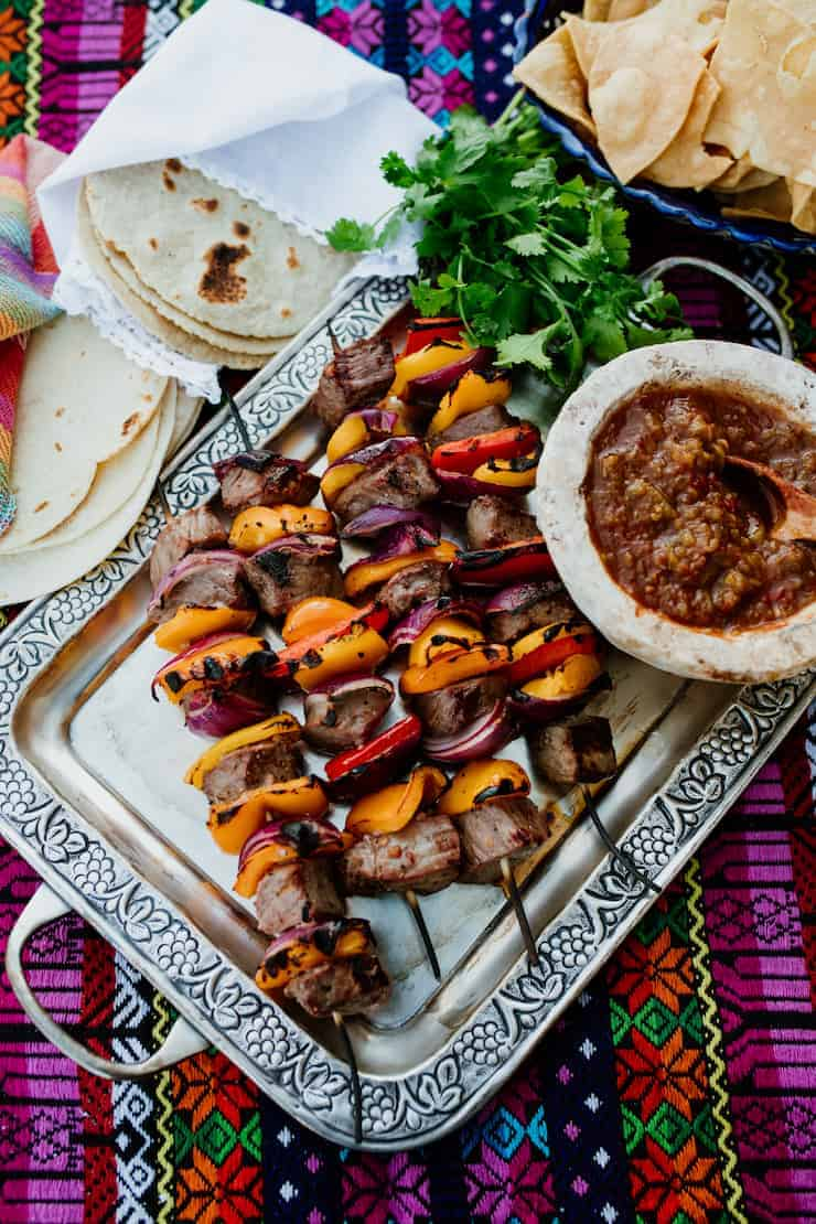 GRILLED STEAK FAJITA SKEWERS