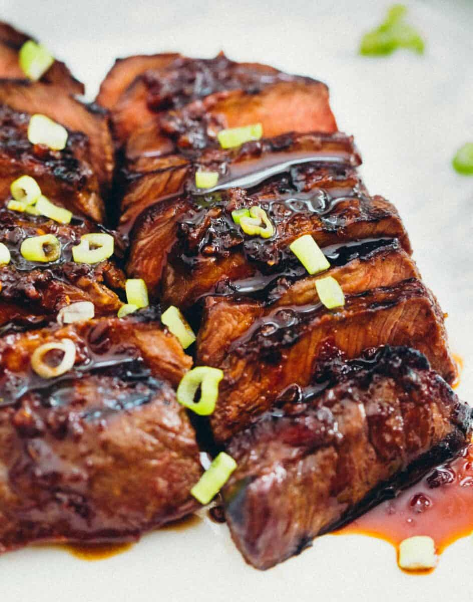 Asian-Marinated Flat Iron Steaks