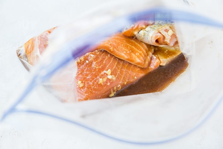 salmon in asian marinade