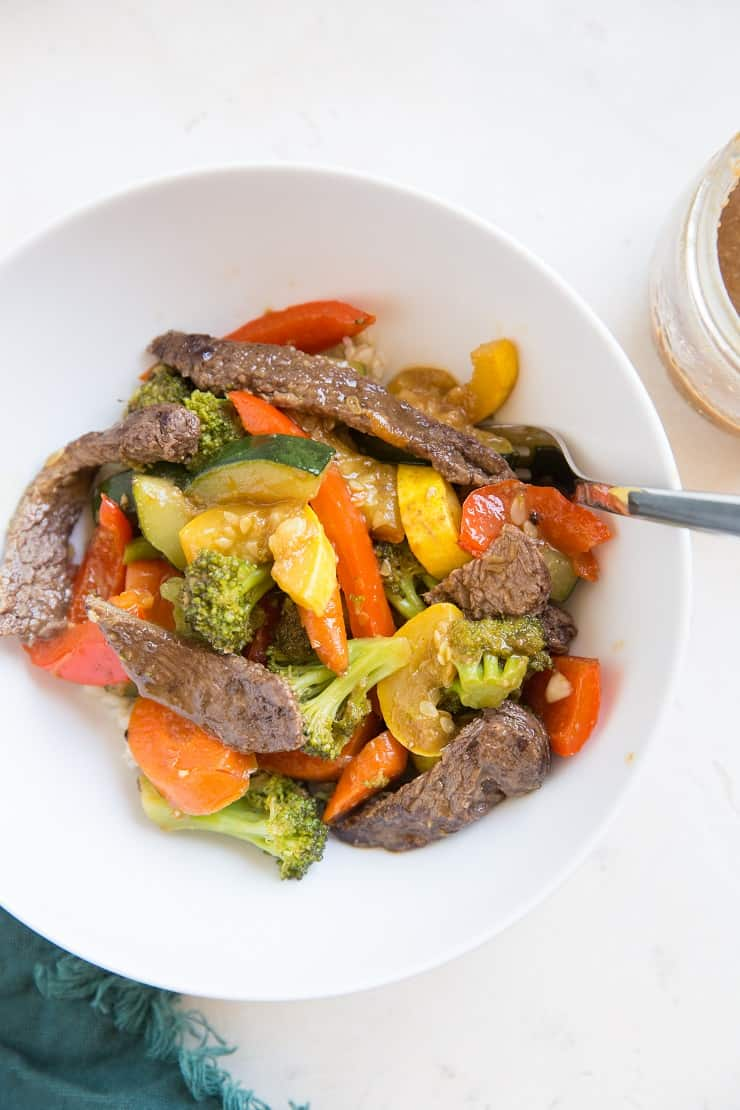 close up photo of beef stir fry