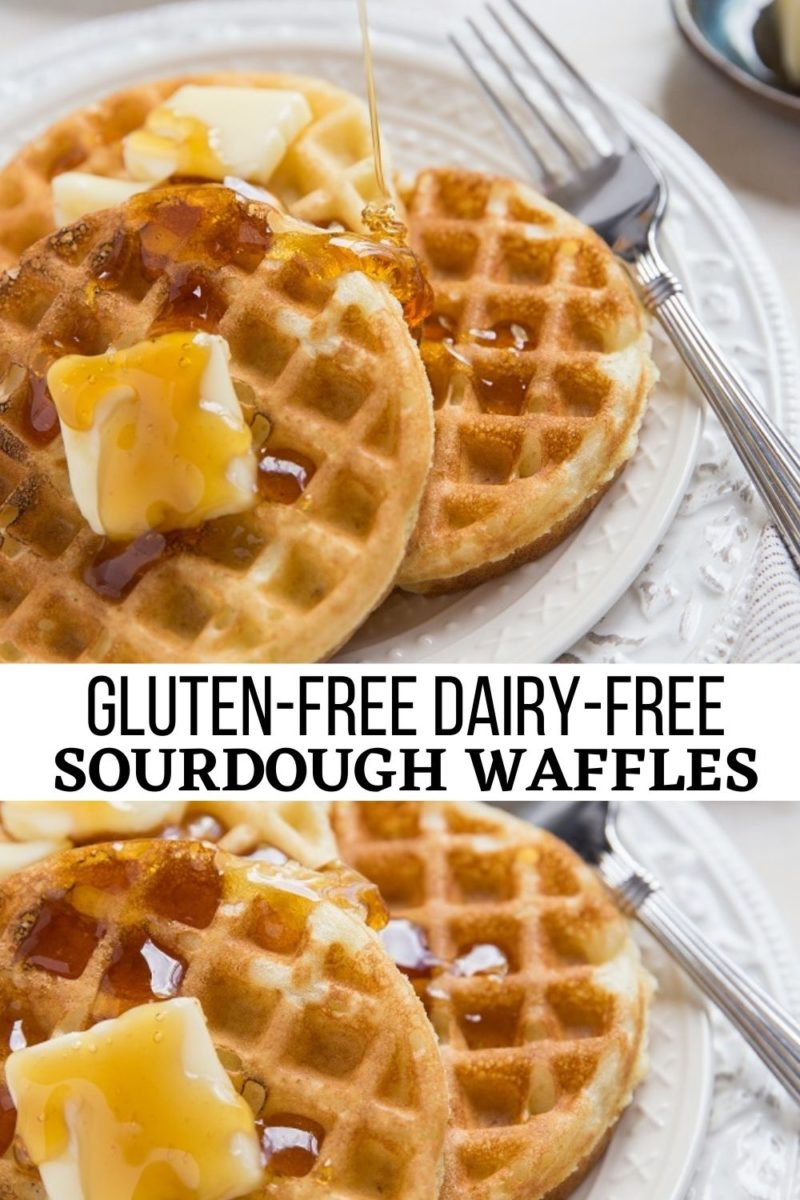 Gluten-Free Dairy-Free Sourdough Waffles - incredibly delicious waffle recipe that is light, fluffy, tangy and out of this world!