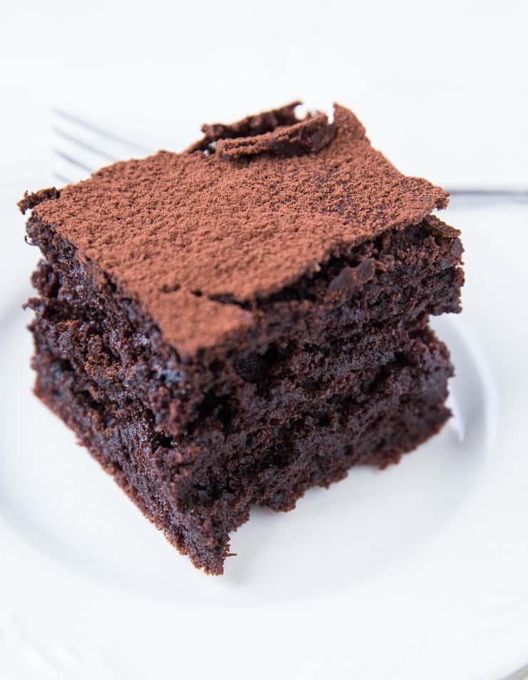 Dairy-Free Sourdough Chocolate Cake - gluten-free chocolate cake recipe made with sourdough discard