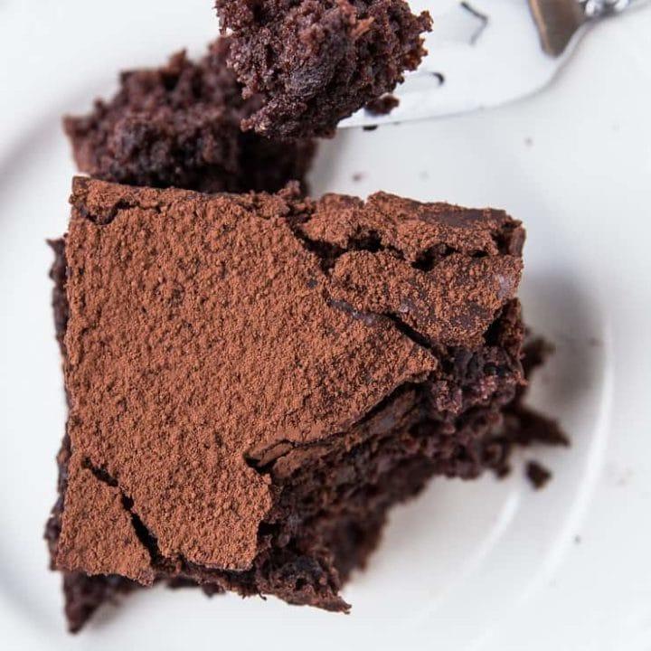 Gluten-Free Sourdough Chocolate Cake - dairy-free chocolate cake recipe made with sourdough discard