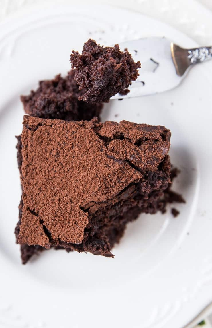 Gluten-Free Sourdough Chocolate Cake - dairy-free chocolate cake recipe made with sourdough discard