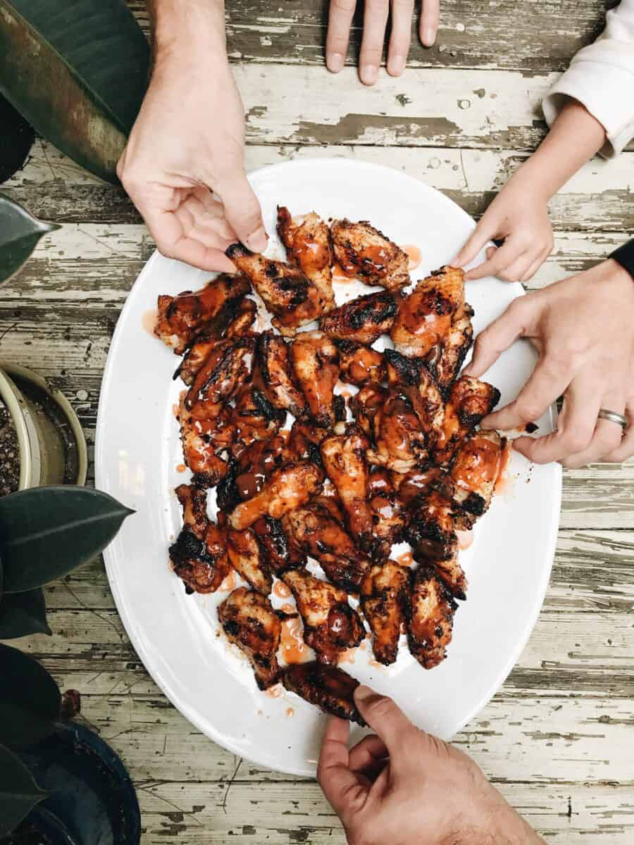 Easy Grilled Buffalo Chicken Wings