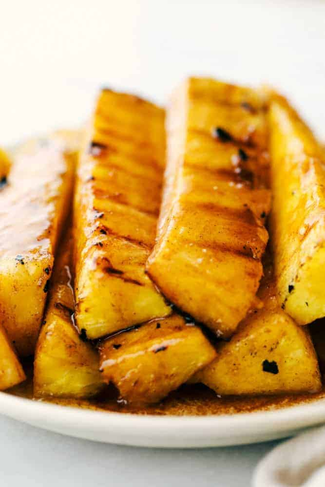 Caramelized Grilled Pineapple