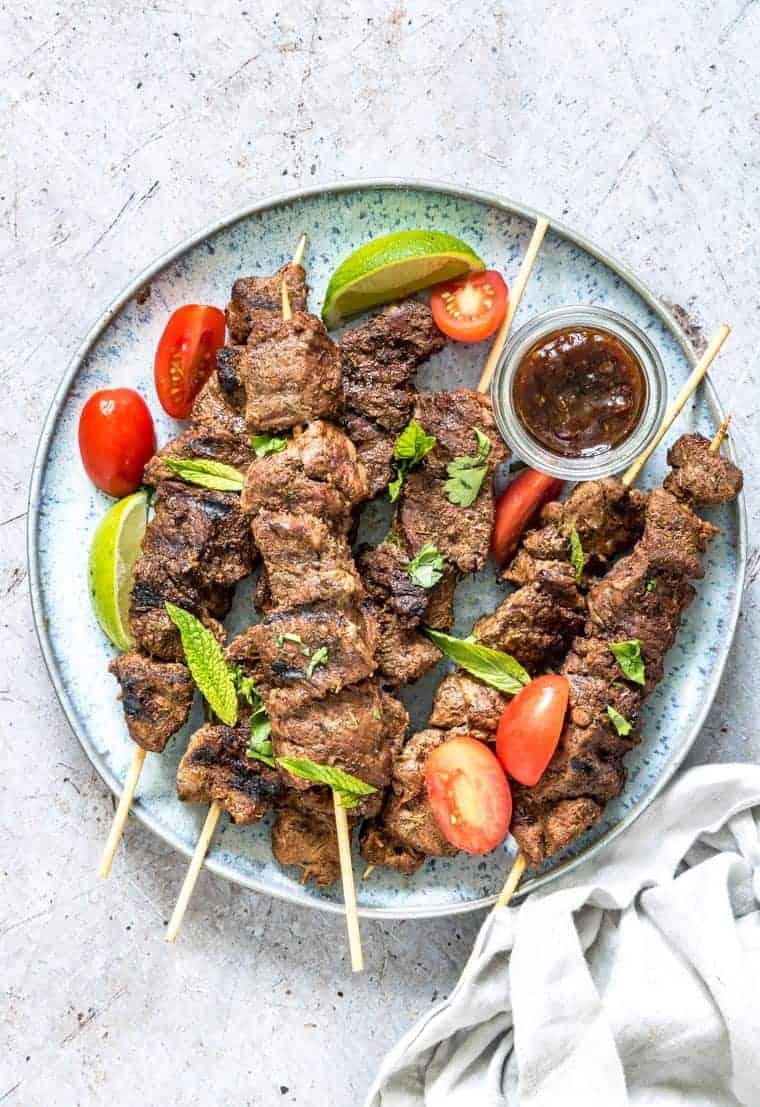 Mediterranean Grilled Lamb Kabobs