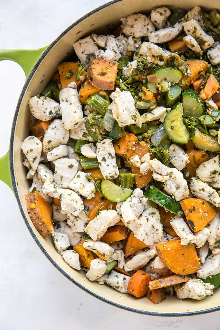 Meal Prep Chicken and Vegetables - a huge batch of chicken and veggies for clean lunches and dinners throughout the week